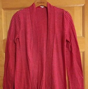 2 for $10 /J. Crew Red Striped Cardigan XS